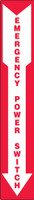 MELC509VA Emergency power switch sign