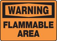 Warning - Flammable Area