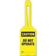 Caution Do Not Operate Loop Safety Tag