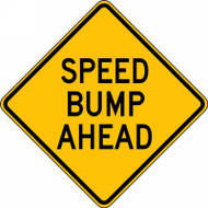 Speed Bump Ahead Sign FRW422RA