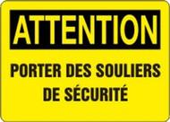 Attention - Attention Porter Des Souliers De Securite - Dura-Fiberglass - 10'' X 14''