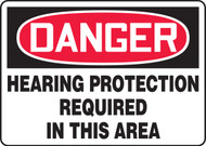Danger Hearing Protection Required In This Area