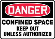 Danger - Confined Space Keep Out Unless Authorized
