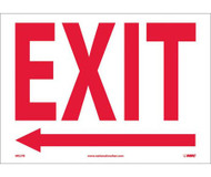 Exit (Arrow Left) - Adhesive Vinyl - 10'' X 14''