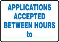 Applications Accepted Between Hours