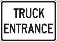 Truck Entrance Sign- Reflective