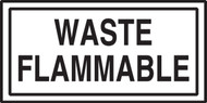 Waste Flammable Sign