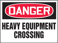 MEQM133 Danger Heavy Equipment Crossing Sign