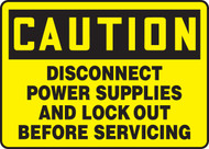 Caution - Disconnect Power Supplies And Lock Out Before Servicing