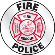 Fire Police Emergency Response Helmet Sticker
