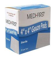 "Sterile Gauze Pads - 4""x 4""- 10/box"