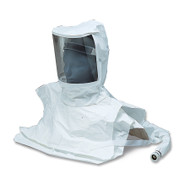 Allegro 9912-CV Double Bib Maintenance Free Tyvek Hood CF SAR Assembly w/ Susp. & Flow Control Valve w/ Hansen Fitting