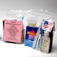 Emergency Personal Hygiene Kit -Female 13 piece (10 Kits Per Order)