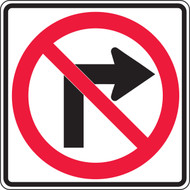 No Right Turn Arrow Pictorial Sign