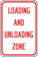 Loading And Unloading Zone (red/white)