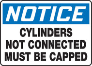 Notice - Cylinders Not Connected Must Be Capped 1