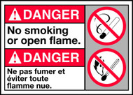 Danger No Smoking Or Open Flames Sign