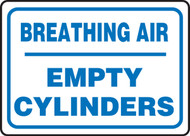 Breathing Air Empty Cylinders - .040 Aluminum - 10'' X 14''