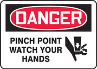 Danger - Pinch Point Watch Your Hands  with Graphic
