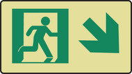 Graphic With Arrow Diagonal Down Right- Glow Sign