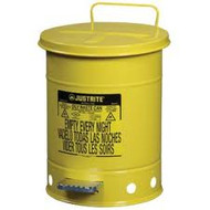 Yellow Oily Waste Can 6 Gallon  w/ Foot Operated Cover