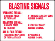 Blasting Signals Warning Signal Sign 1