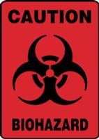 Caution Biohazard (W/Graphic) - Accu-Shield - 10'' X 7''
