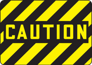 Caution - Dura-Fiberglass - 10'' X 14''