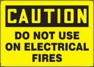 Caution - Do Not Use On Electrical Fires