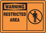 Warning - Restricted Area (W/Graphic) - Dura-Fiberglass - 10'' X 14''