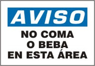 No Coma O Beba En Esta Area Spanish Safety Sign