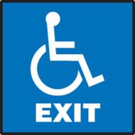 Exit (W/Graphic) - Aluma-Lite - 7'' X 7''