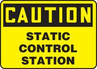 Caution - Static Control Station - Dura-Plastic - 10'' X 14''