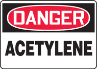 Danger - Acetylene - Dura-Fiberglass - 10'' X 14''