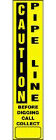 Caution Pipe Line Utility Line Marking Label