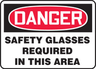 Danger Safety Glasses Required In This Area