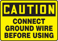 Caution - Connect Ground Wire Before Using - Adhesive Dura-Vinyl - 10'' X 14''