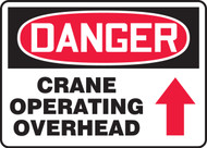 Danger - Crane Operating Overhead Sign Arrow Up