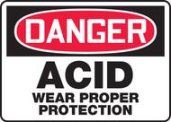 Danger - Acid Wear Proper Protection