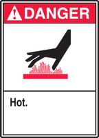 Danger - Hot - ANSI Sign