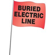 Buried Electric Line Flags- 100/pkg