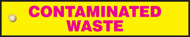 Contaminated Waste- Radiation Slide Sign Insert