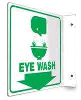 Emergency Eyewash Sign 90D