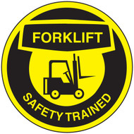 Forklift Safety Trained Hard Hat Decal