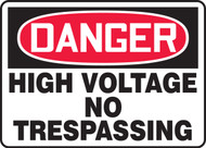 Danger - High Voltage No Trespassing