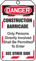 Construction Barricade Status Tag