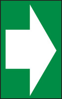 Arrow (White Arrow On Green) - Dura-Plastic - 7'' X 5''