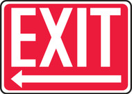 Exit (Arrow Left) - .040 Aluminum - 10'' X 14'' 1