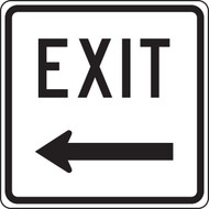 Exit Sign Left Arrow
