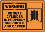 Warning - Be Sure Cylinder Is Properly Supported And Capped